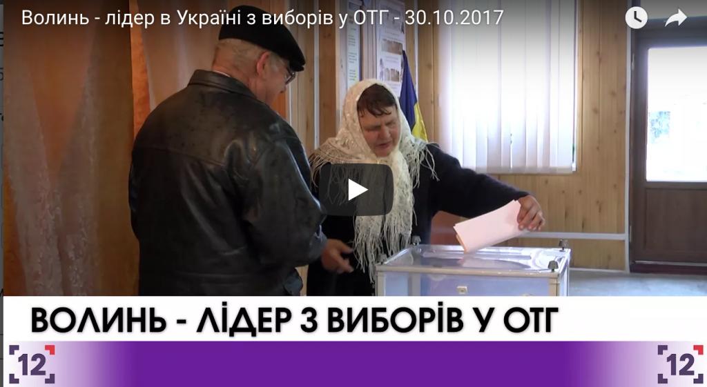 Волинь - лідер в Україні з виборів у ОТГ
