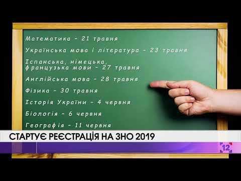 Стартує реєстрація на ЗНО 2019