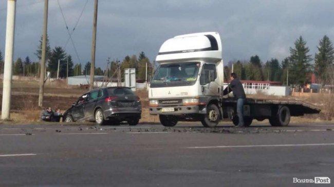 Біля Луцька сталася аварія. ФОТО