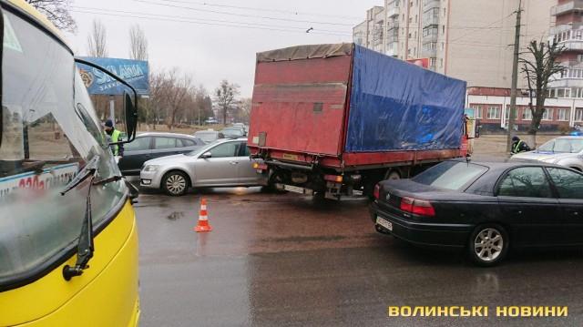 У Луцьку зіткнулися дві автівки. ФОТО