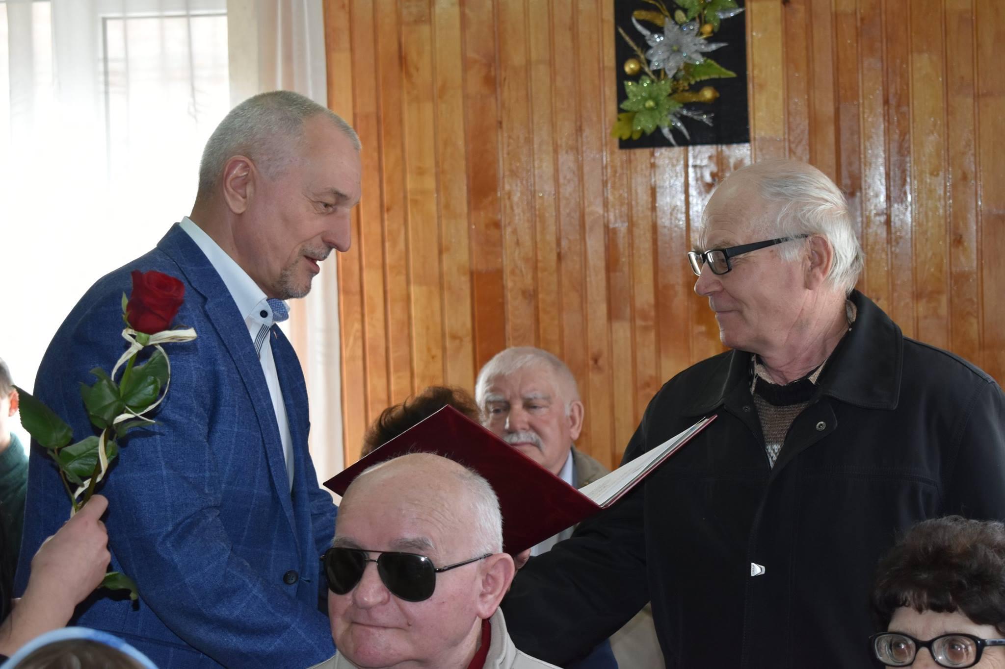 Як Савченко вітав волинських незрячих. ФОТО