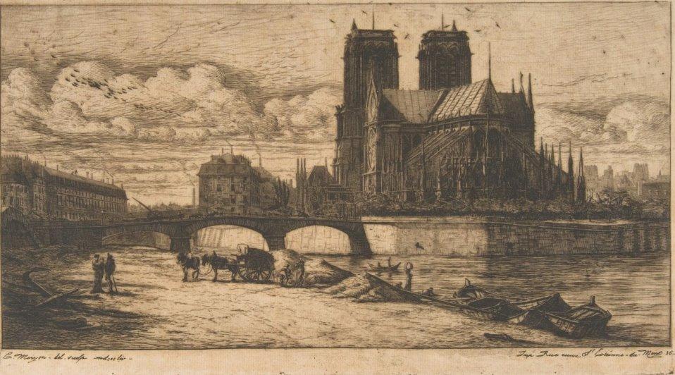 Собор Паризької Богоматері на архівних світлинах. РЕТРОФОТО