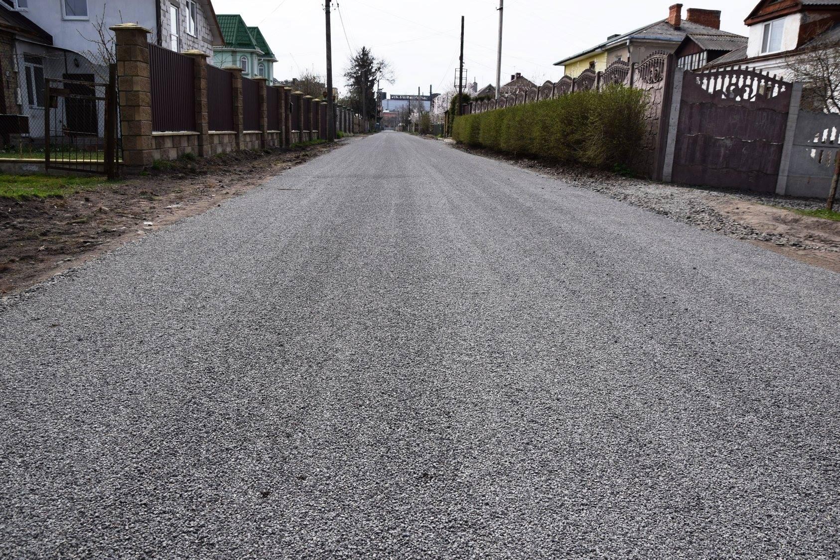 У приватному секторі Луцька відремонтували дорогу. ФОТО