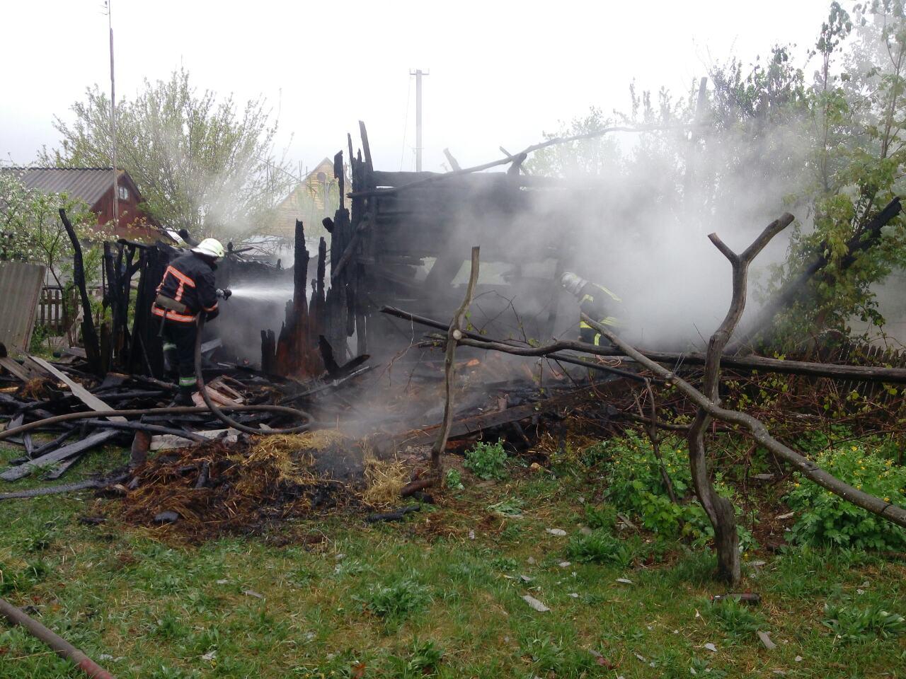 На Камінь-Каширщині під час гасіння пожежі знайшли тіло пенсіонера