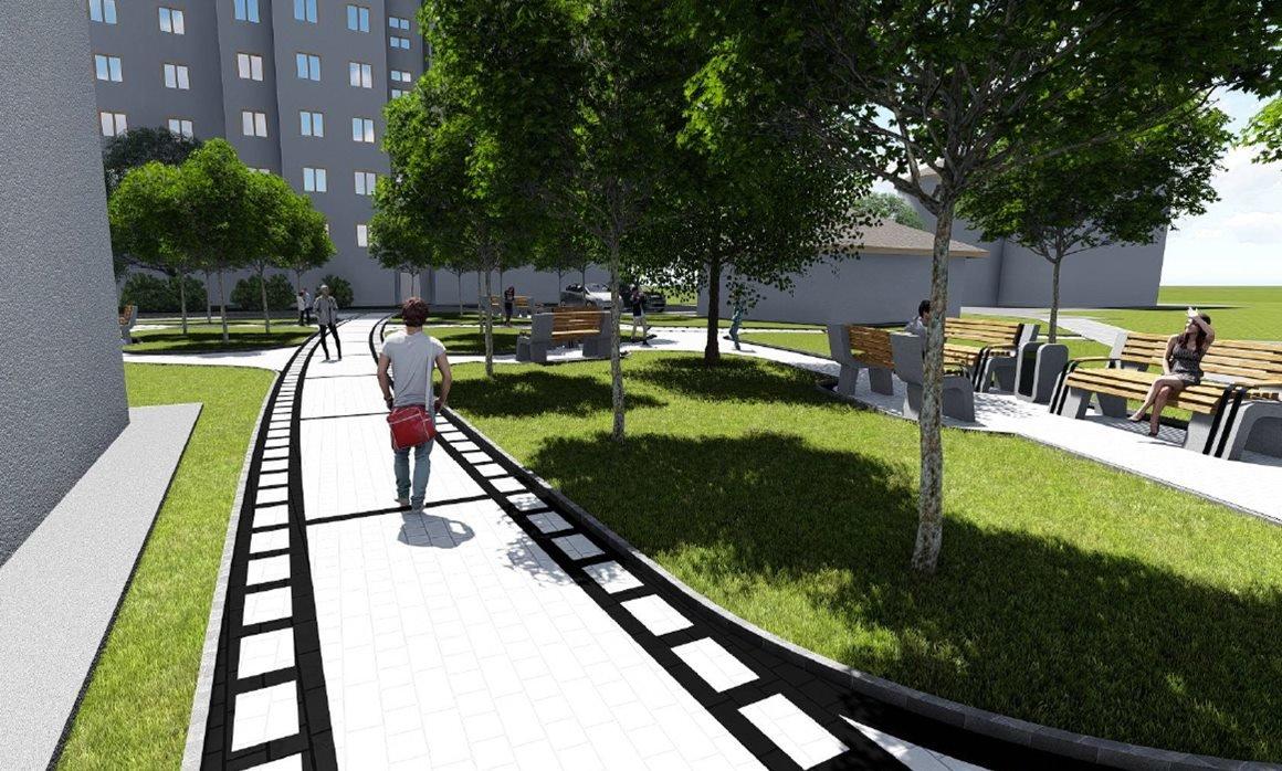 У центрі Луцька буде новий сквер. ФОТО