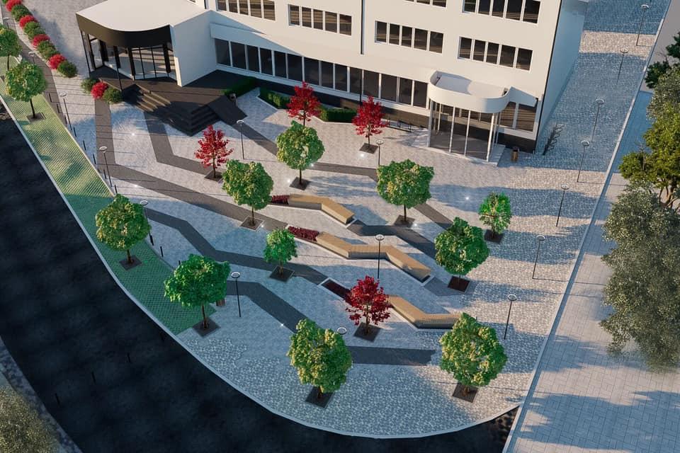 Показали, як виглядатиме новий сквер у центрі Луцька. ФОТО