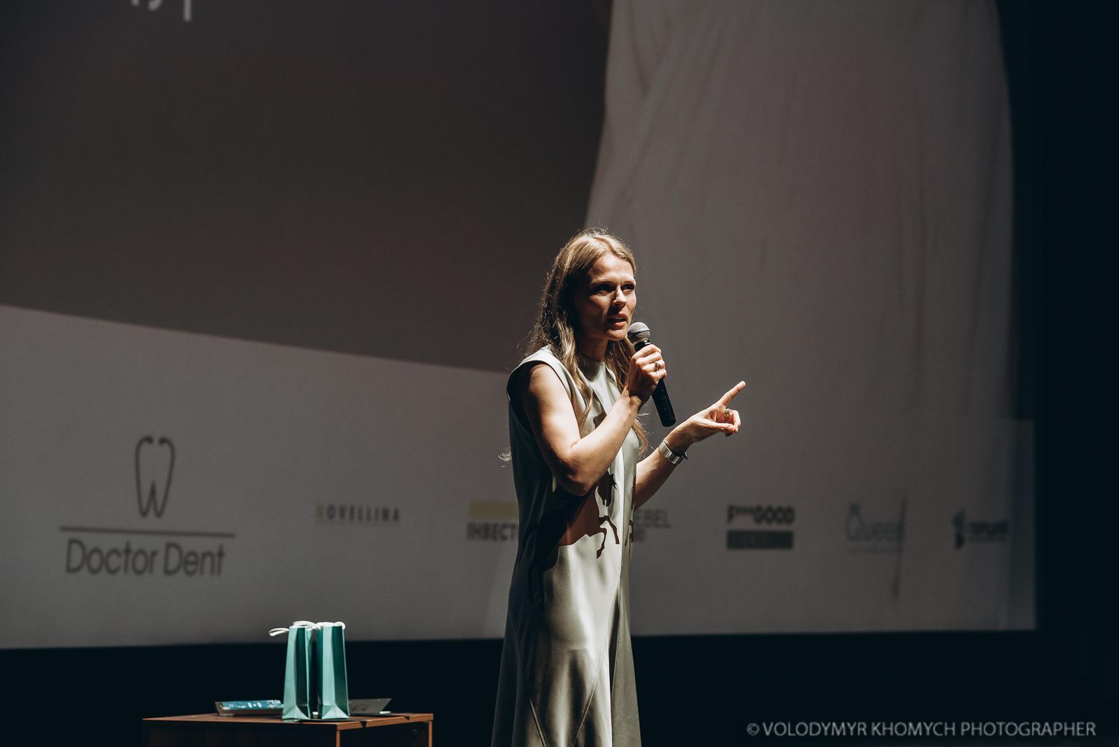 Кар'єра, діти, гроші, секс: про що говорила Ольга Фреймут у Луцьку