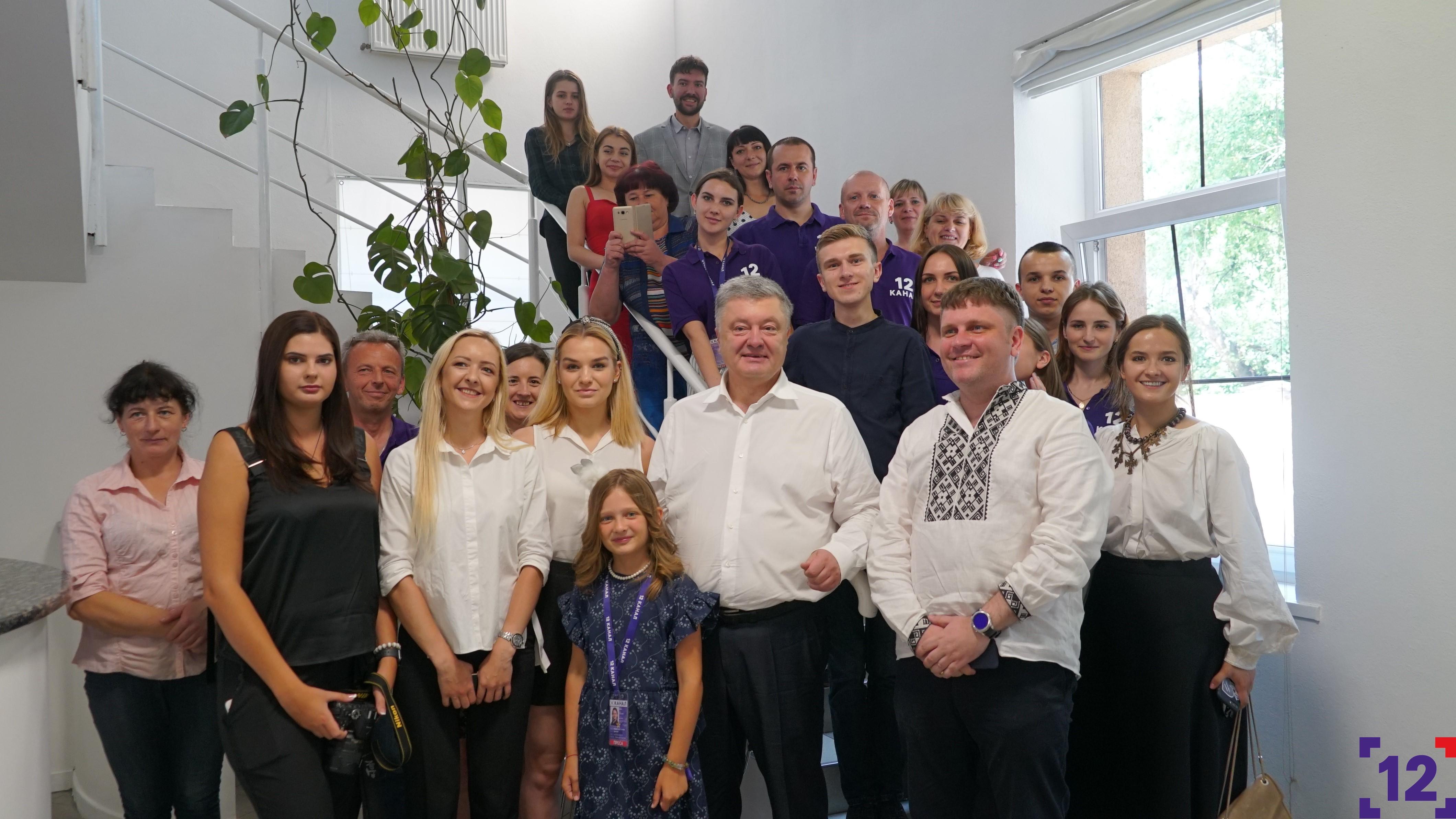 Петро Порошенко завітав на 12 канал. ФОТО