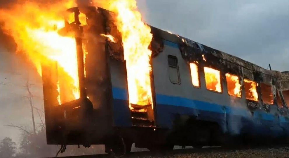 На Волині загорівся  потяг з пасажирами