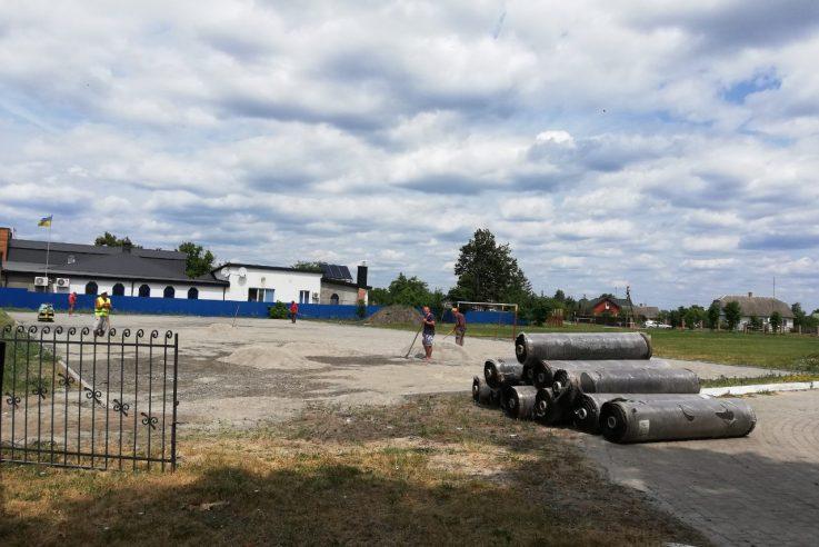 У Шацьку будують новий шкільний стадіон. ФОТО