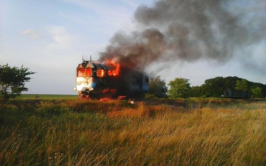 Вогонь гасили близько години: деталі пожежі пасажирського потяга на Волині
