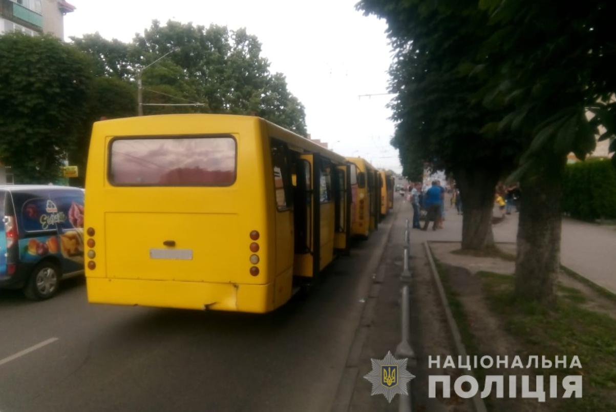 У Луцьку стукнулися три маршрутки. Постраждали пасажири