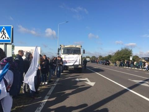 На Волині кілька сотень людей протестують проти продажу землі. ФОТО