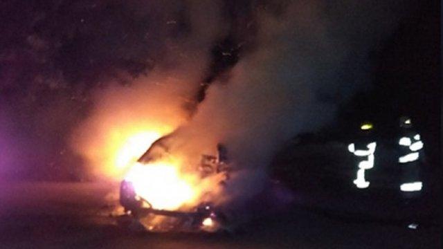 На трасі Луцьк-Горохів загорівся автомобіль. ВІДЕО