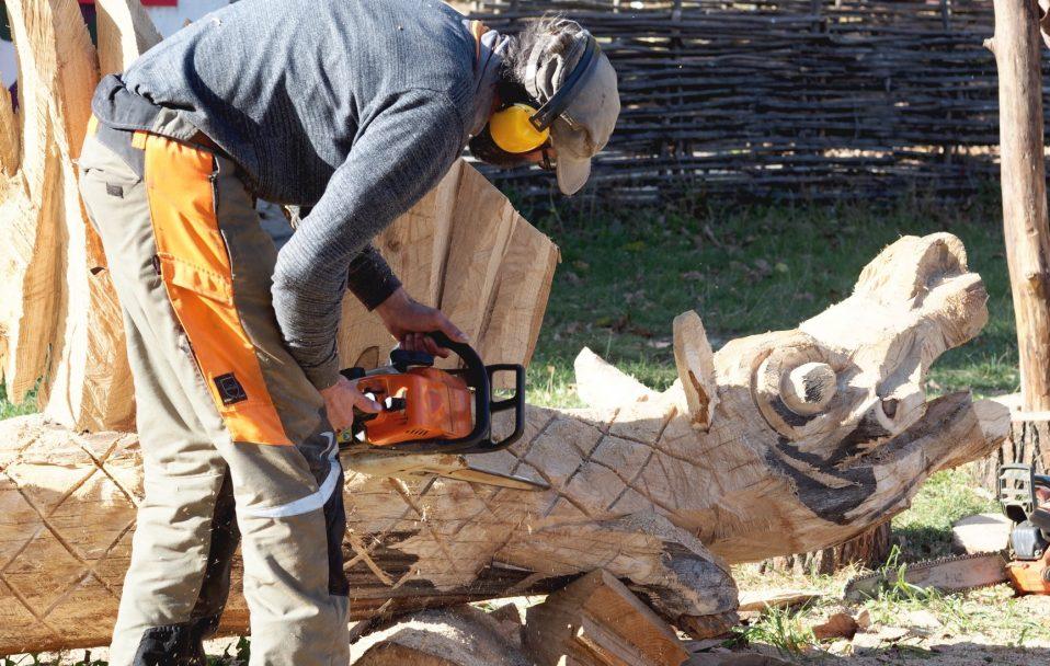 Як у Луцьку створюють мистецький парк з дерев'яними химерами. ФОТО