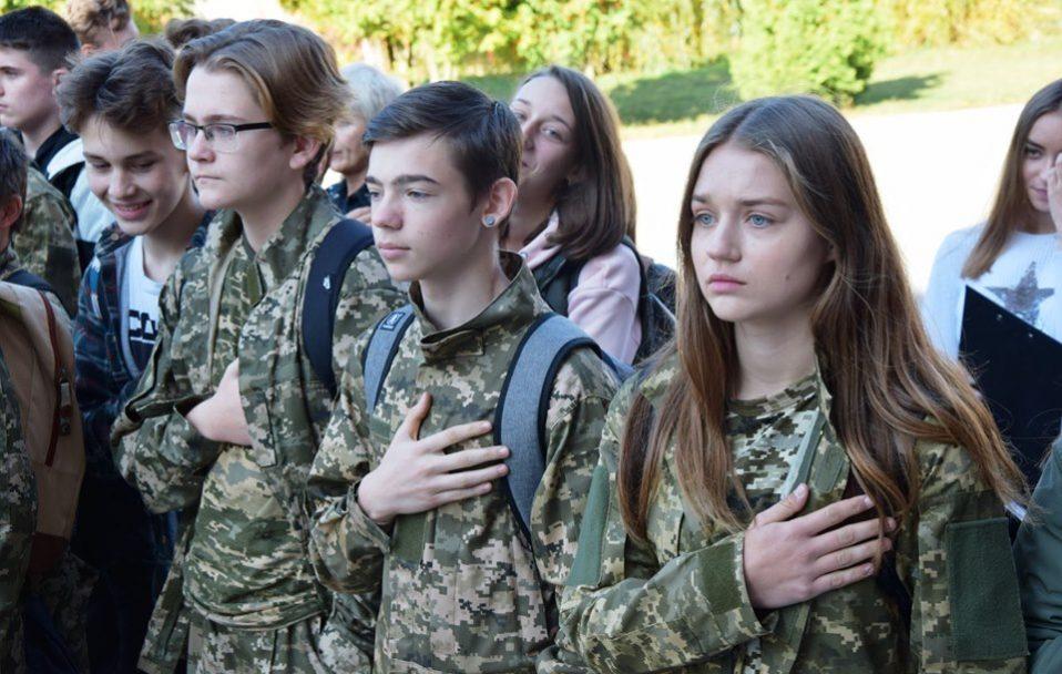У луцькій школі відкрили військово-спортивну смугу перешкод. ФОТО