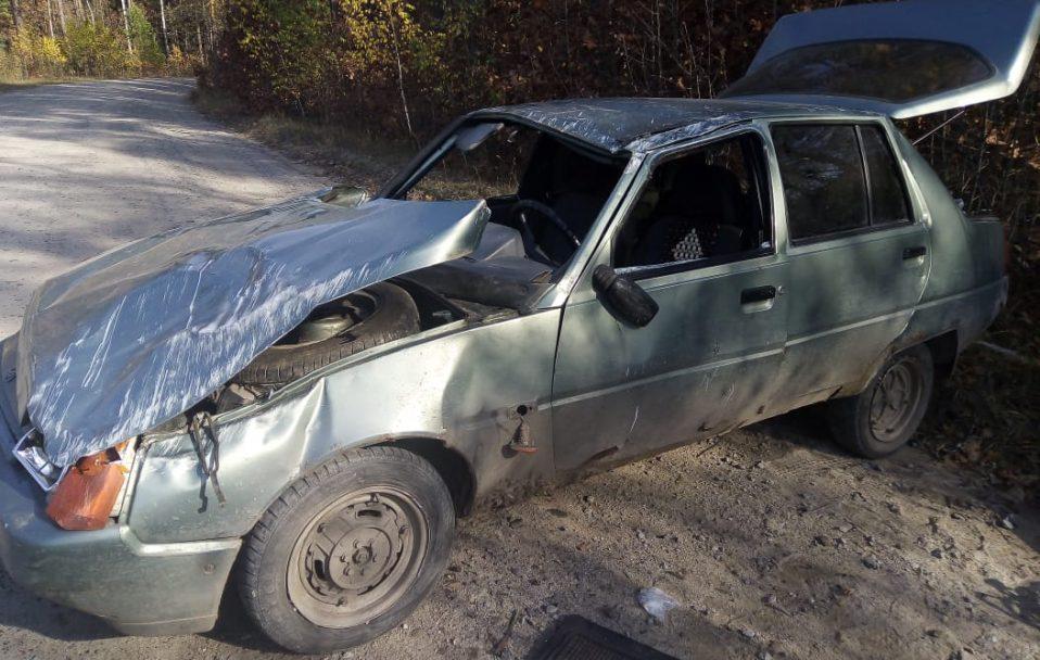 На Камінь-Каширщині перевернулася автівка із двома людьми. ФОТО