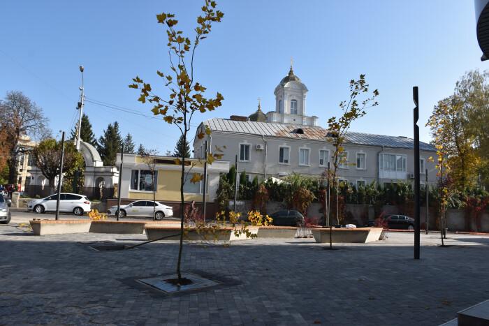 В центрі Луцька у сквері посадили 16 дерев. ФОТО
