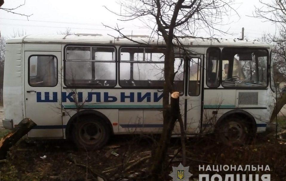 На Волині автобус із школярами злетів у кювет. ФОТО
