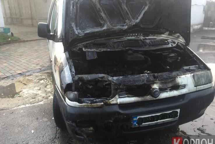 У Любомлі загорілася автівка. ФОТО