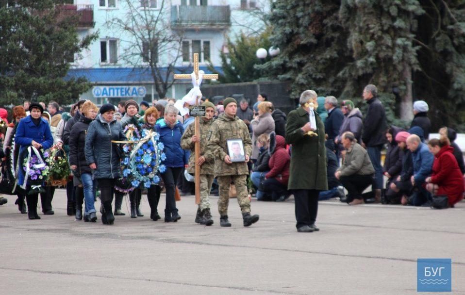 На Волині попрощалися із загиблим на Донбасі Юрієм Хоміком