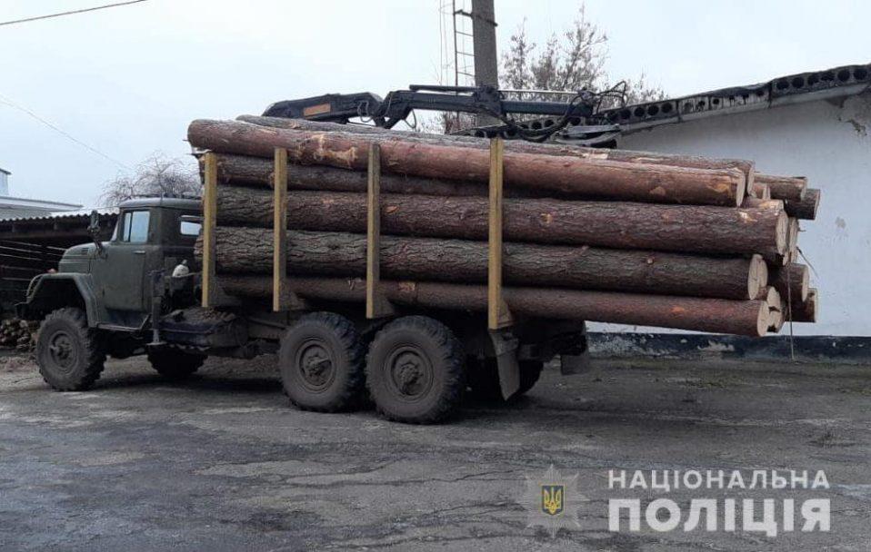 """На Волині піймали вантажівку  з краденим лісом та """"накрили"""" пилораму. ФОТО"""