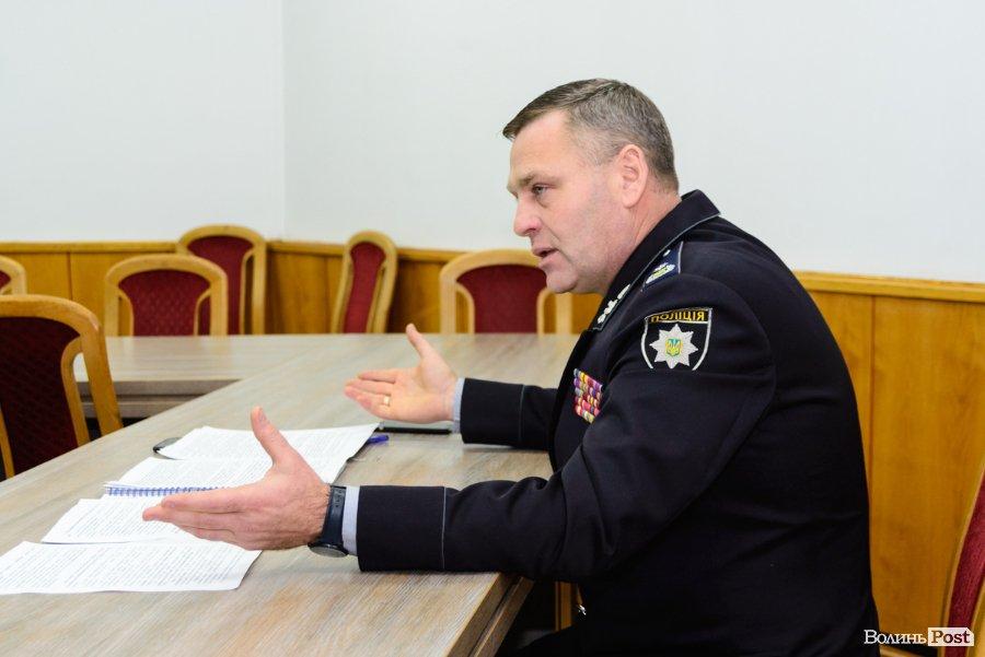 Звільнили головного поліцейського Волині Петра Шпигу