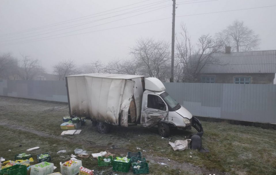 Через сильний туман на Волині зіткнулися три автомобілі. ФОТО