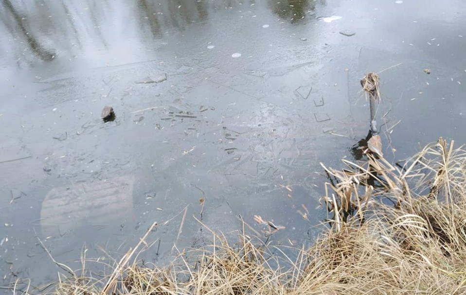 У Луцьку вандали пошкодили та викинули лавки у канал. ФОТО
