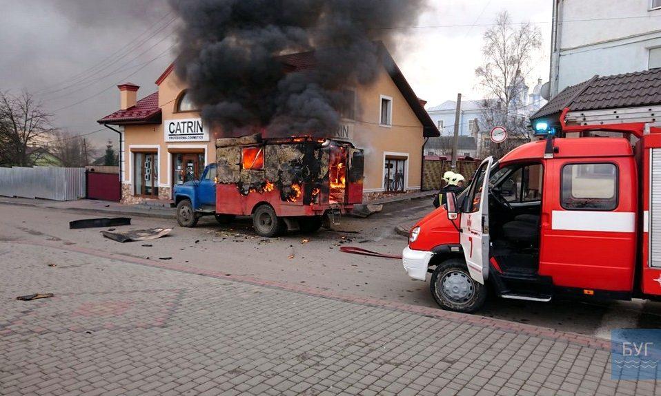 На Волині вибухнула вантажівка. ФОТО. ВІДЕО