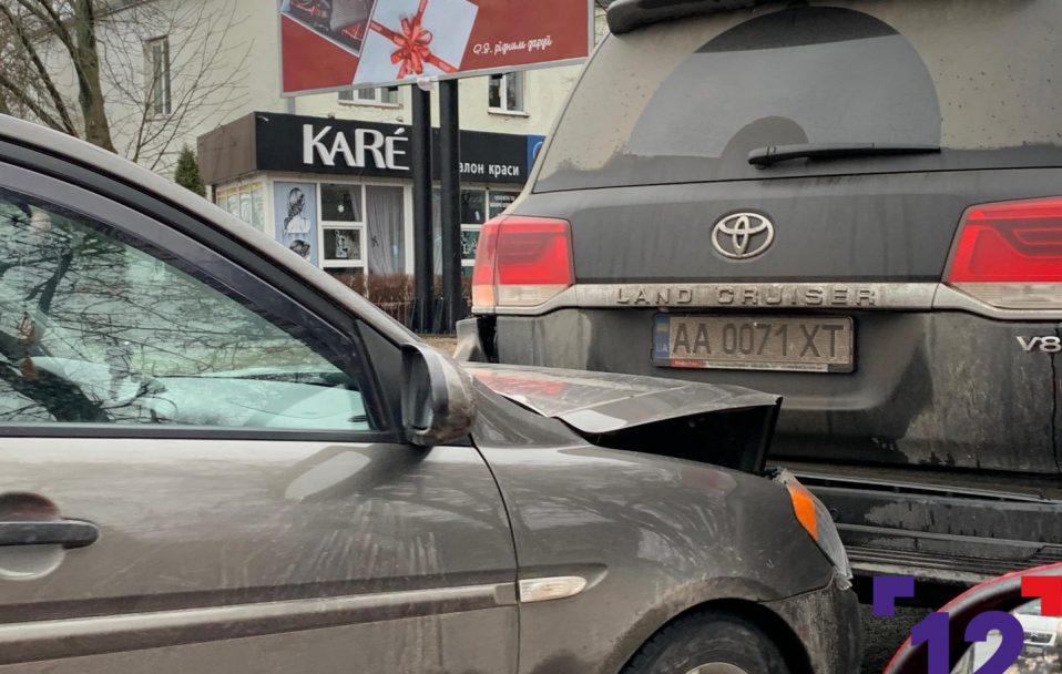 У Луцьку через ДТП утворився затор. ФОТО