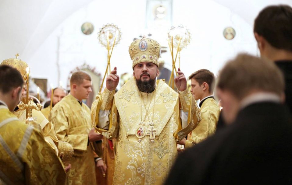 П'ятий президент України привітав Епіфанія з річницею інтронізації та днем народження
