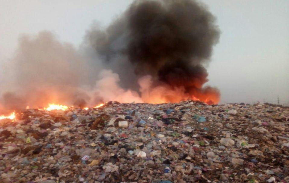 Через пожежу на сміттєзвалищі чотири волинські села залишилися без світла