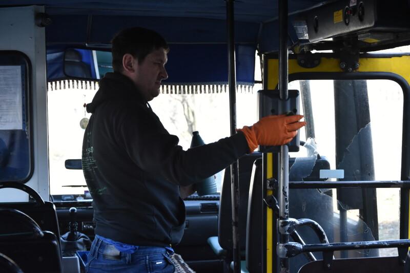 Як у Луцьку дезінфікують громадський транспорт. ФОТО