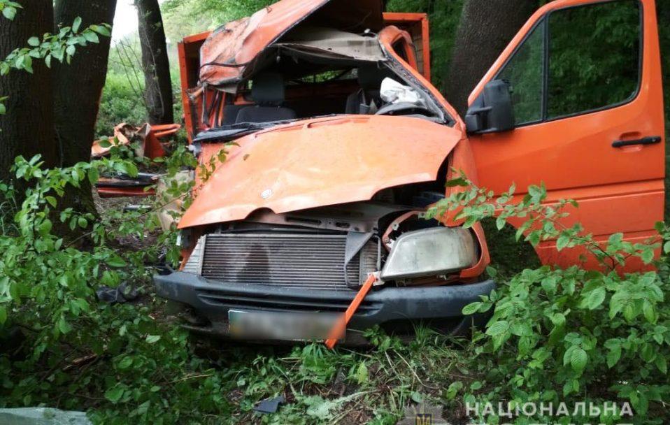 На Волині «Mercedes» врізався у дерево: двоє пасажирів – у лікарні