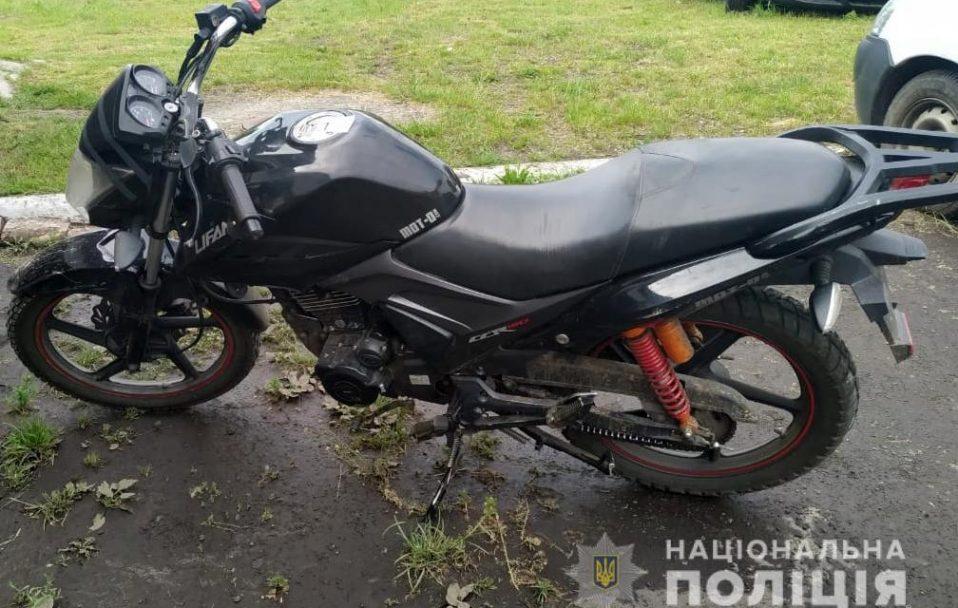 Поліцейські затримали волинянина, який викрав мотоцикл біля магазину