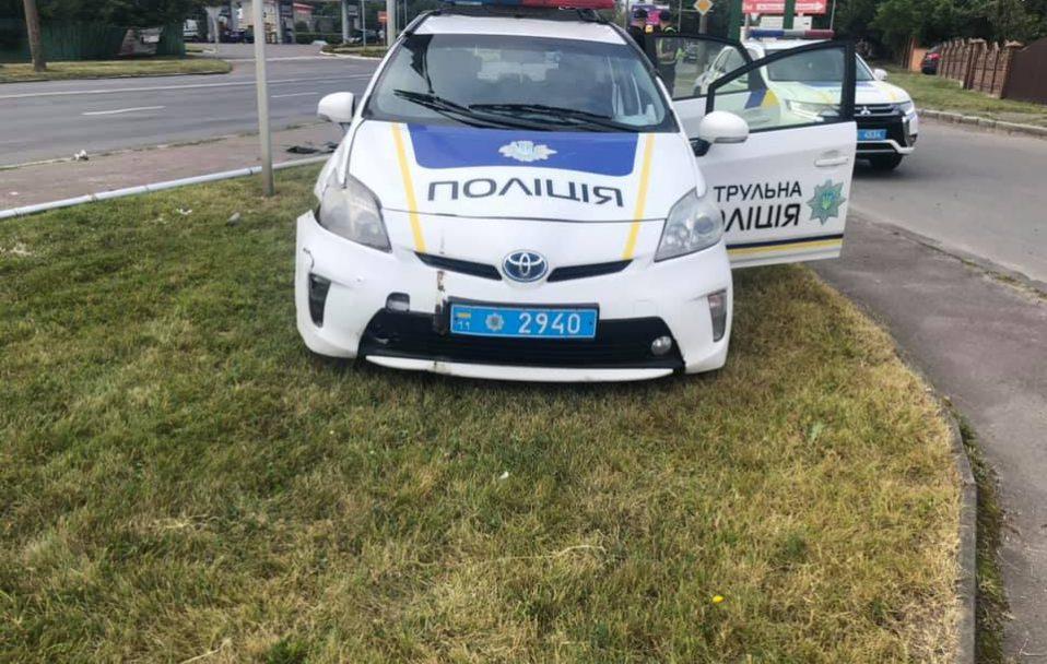 У Луцьку машина патрульних потрапила в ДТП