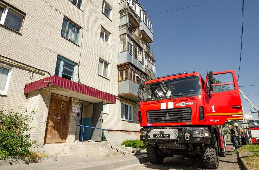 У Луцьку сталася пожежа через праску. ФОТО