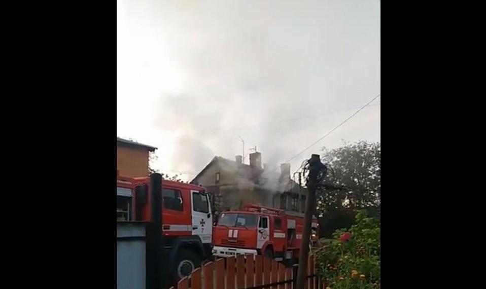 На Волині сталася пожежа: одна людина загинула. ВІДЕО