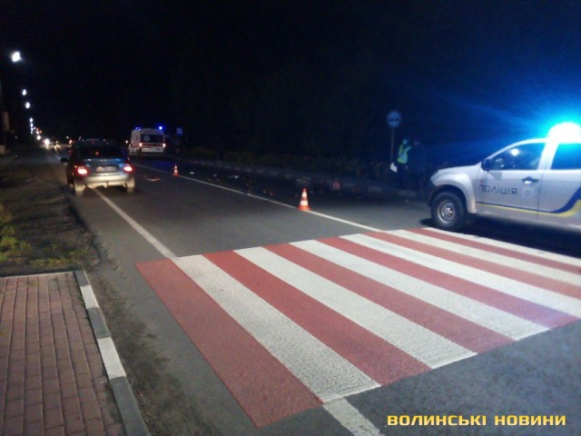Трагічна ДТП біля Луцька: водій Mercedes на смерть збив велосипедиста. ФОТО