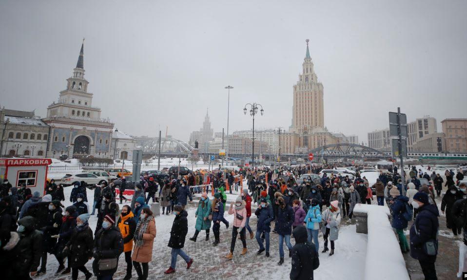 В Росії – масові протести: кількість затриманих вже перевищує 1600