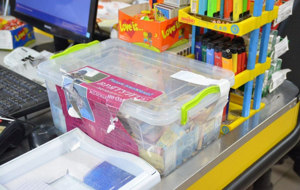 На Волині чоловік з магазину вкрав скриньку із пожертвами для хворих