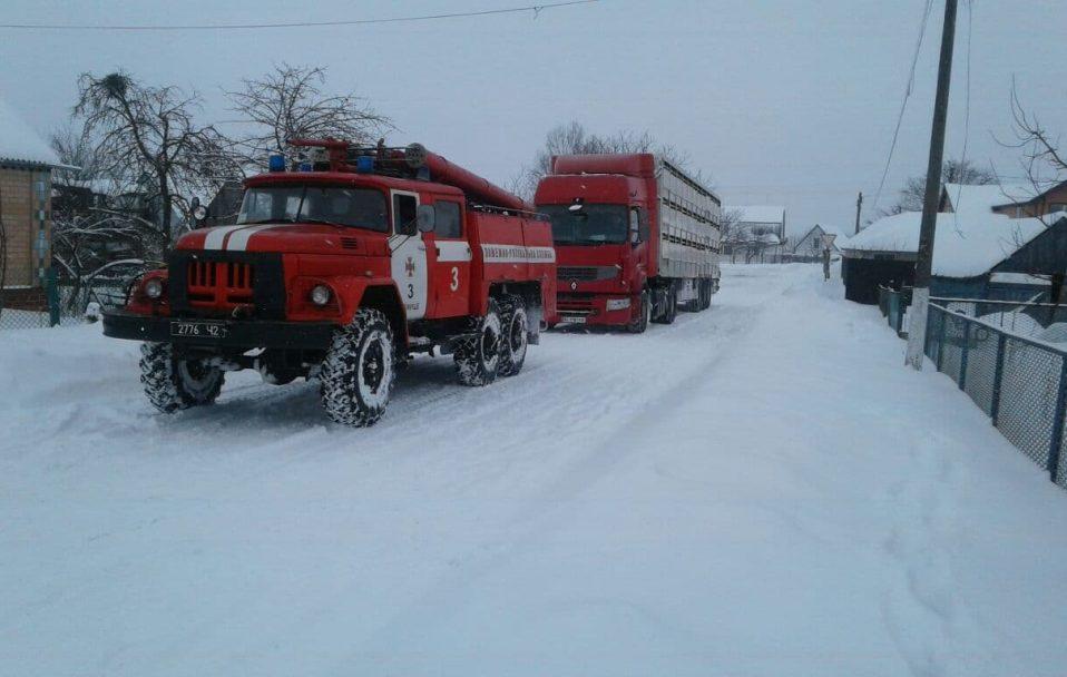 """У заметах на Волині застрягли вантажівка зі свиньми, два тролейбуси, три """"швидкі"""""""