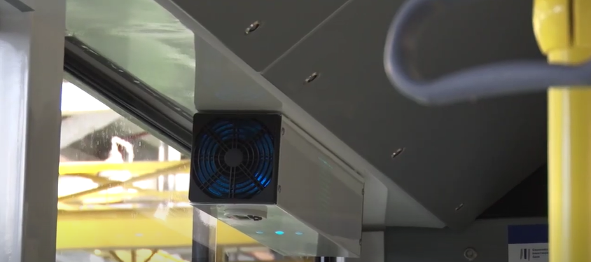 У Луцьку винайшли прилади, які знезаражують повітря у громадському транспорті. ВІДЕО