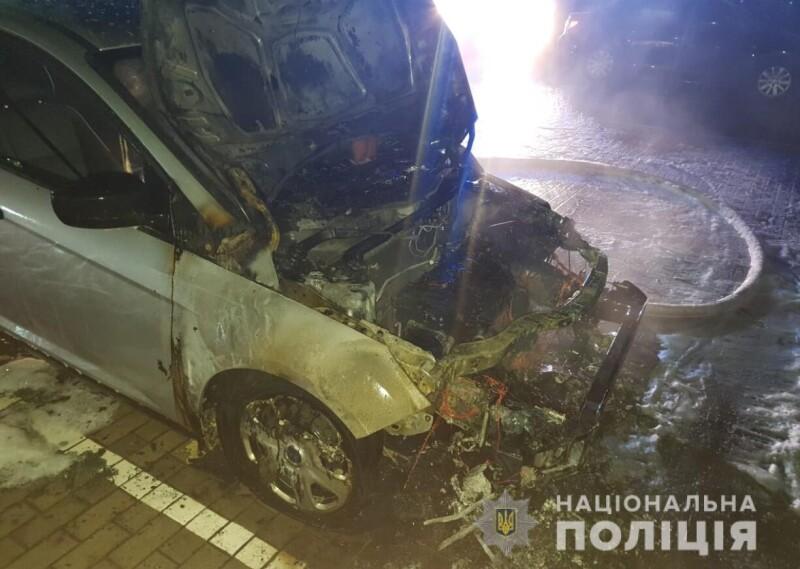 Згоріла машина Катерини Дулапчій: у поліції розповіли деталі. ФОТО