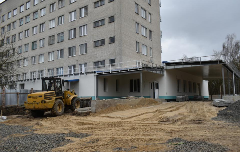 У приймальному відділенні Луцької міської клінічної лікарні – масштабна реконструкція. ВІДЕО