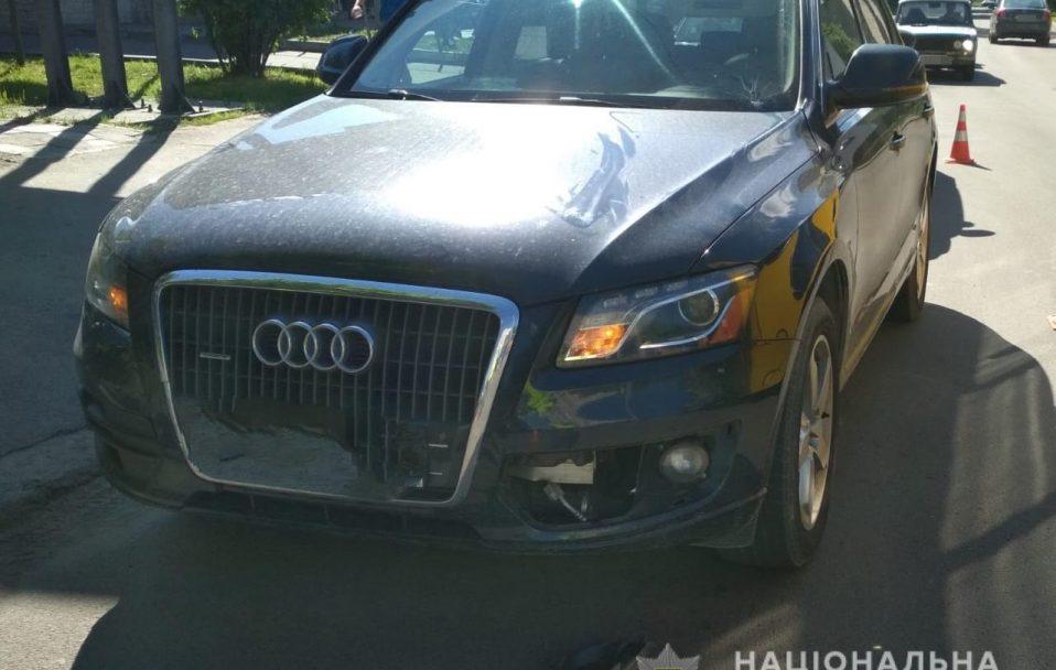 У Луцьку водій Audi Q5 збив школярку. ФОТО