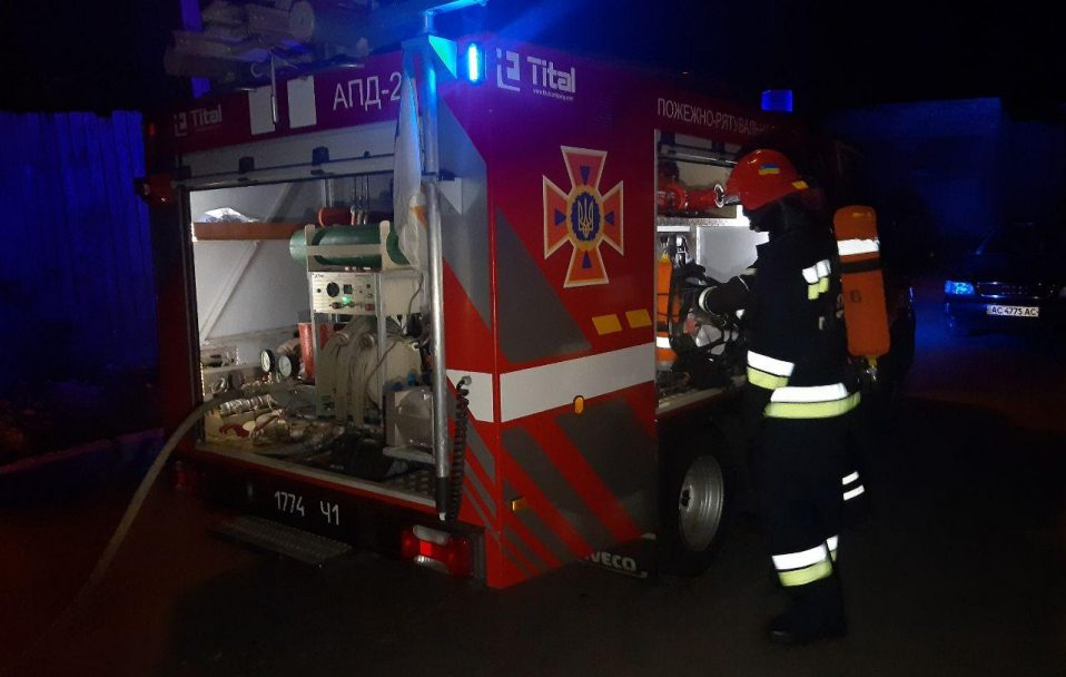 У Горохові підпалили магазин