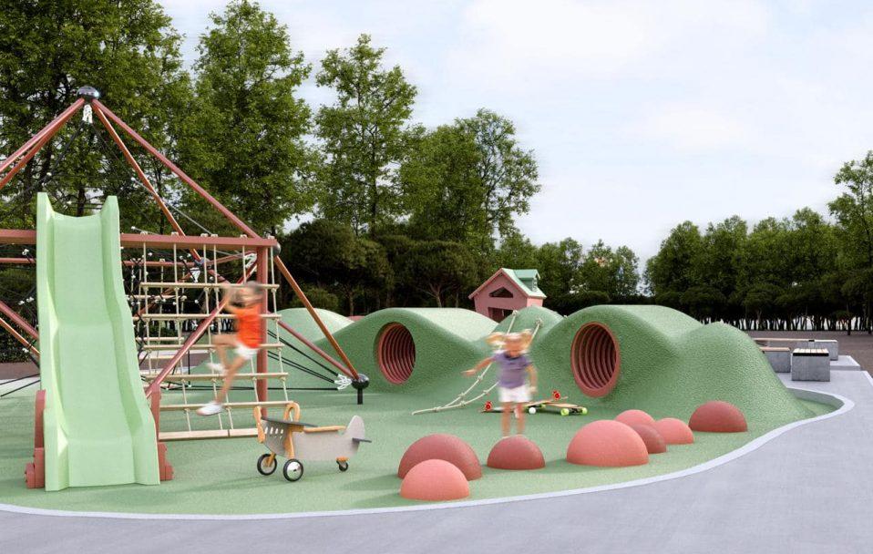 Показали, який вигляд матиме урбан-парк на Молоді в Луцьку. ФОТО