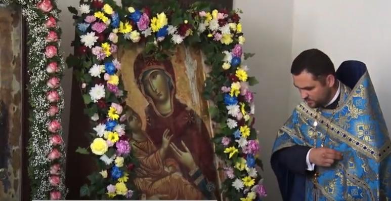 У Луцьку освятили ікону, яку роками писали монахи на Афоні. ВІДЕО